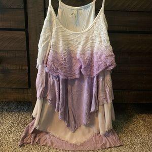 Women's BKE Top Ombré Purple XS